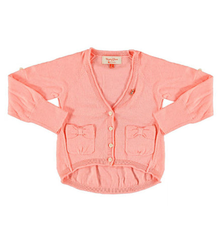 Mayoral Girls Knit Cardigan Pink