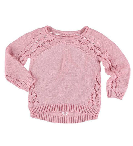 Mayoral Girls Openwork Sweater Rose