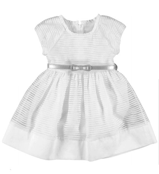 Mayoral Girls Cotton Dress White - Brands For Kids