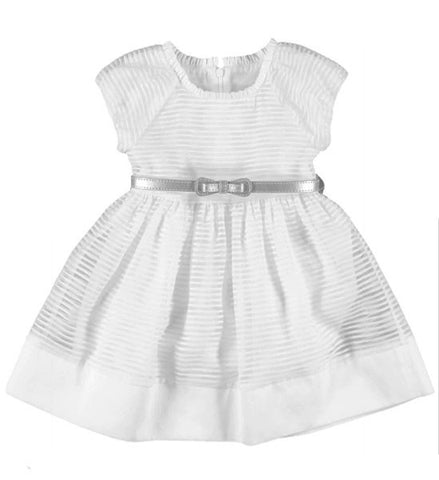 Mayoral Girls Cotton Dress White