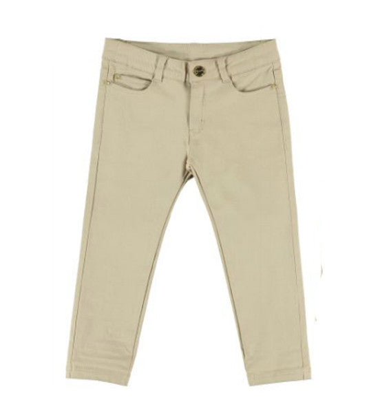 Mayoral Girls Twill Pants Beige APRIL - Brands For Kids