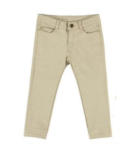 Mayoral Girls Twill Pants Beige APRIL