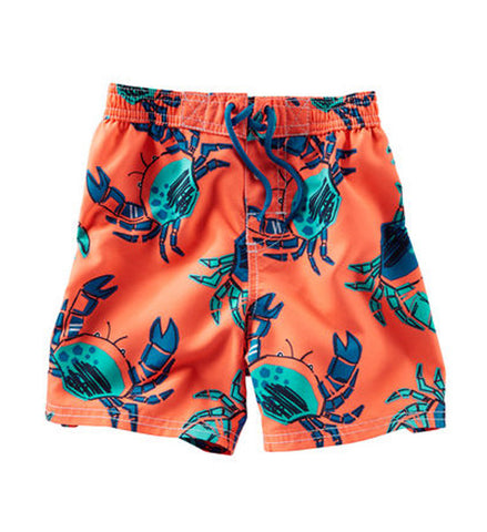 OshKosh Baby Boy Crab Swim Shorts Coral