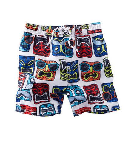 OshKosh Baby Boy Tiki Swim Shorts White
