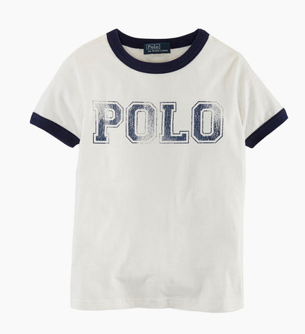 Ralph Lauren Boys POLO Tee White