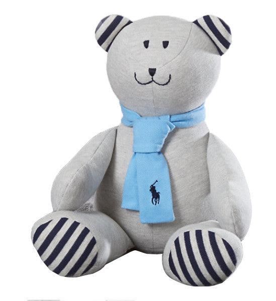 Ralph Lauren Baby Boy Plush Cotton Mesh Bear