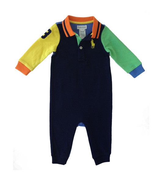 Ralph Lauren Baby Boy Color-Blocked Coverall
