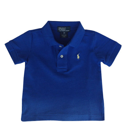 Ralph Lauren Baby Boy Classic Cotton Polo Shirt Blue