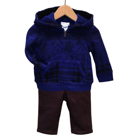 Ralph Lauren Plaid Full-Zip & Pant Set