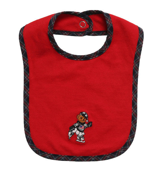 Ralph Lauren Baby Girl Teddy Bib Red