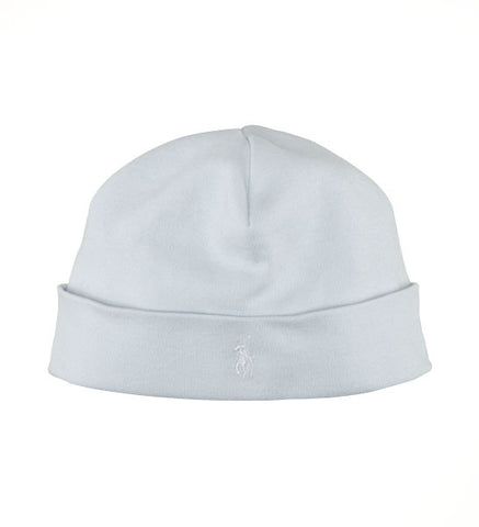 Ralph Lauren Baby Boy Cotton Beanie Pearl Blue