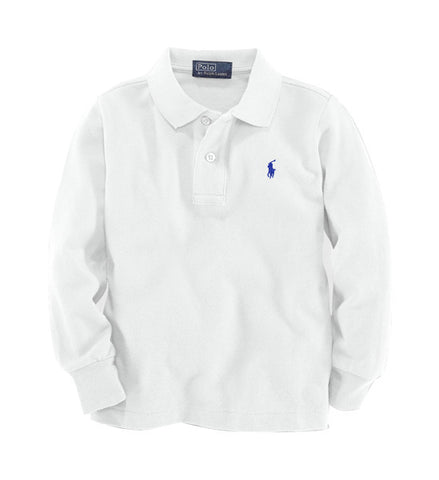 Ralph Lauren Long Sleeve Mesh Polo White