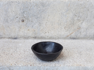 matte black rice bowl small pottery  bowl