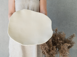 Winterish large serving plate