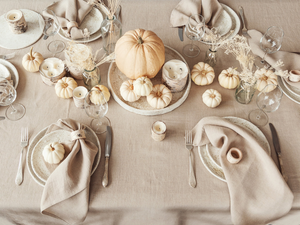 Thanksgiving tableware setting