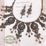 Bronze Antique Gold Vintage Inspired Victorian Bridal Jewelry Set-Glam Duchess