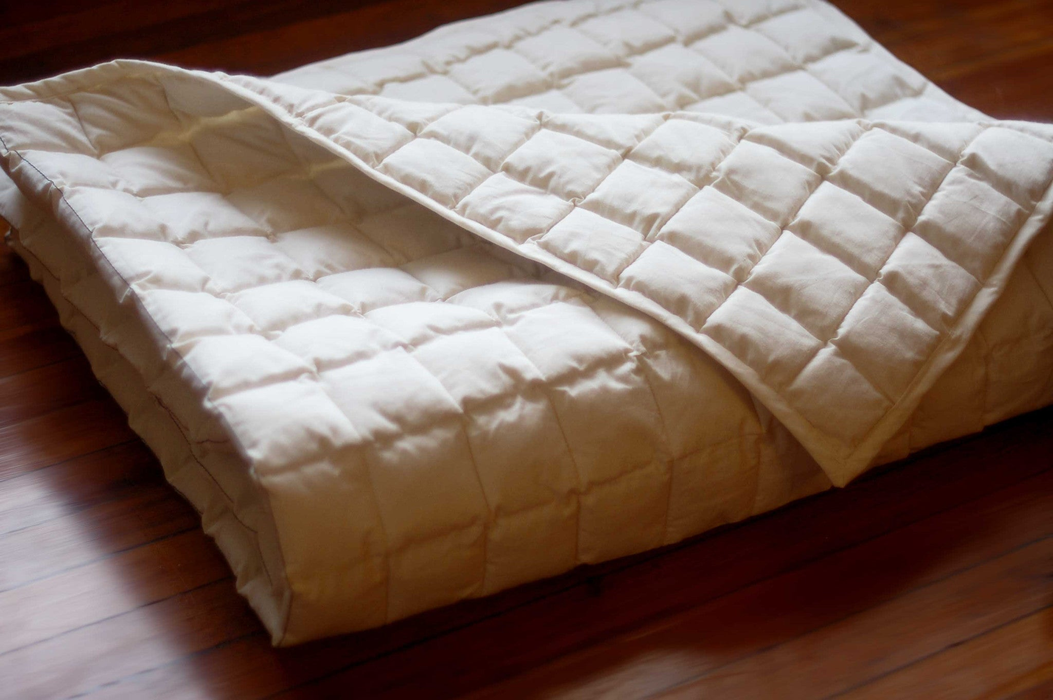 Organic Cloud Nine Yoga Blanket. color: unbleached khadi