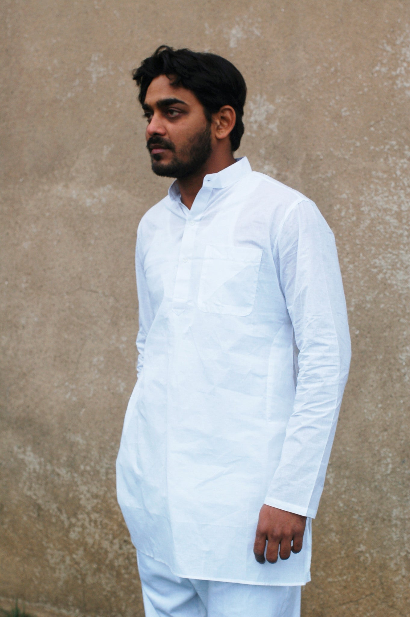 Unisex Khadi Kurta and Drawstring Pant