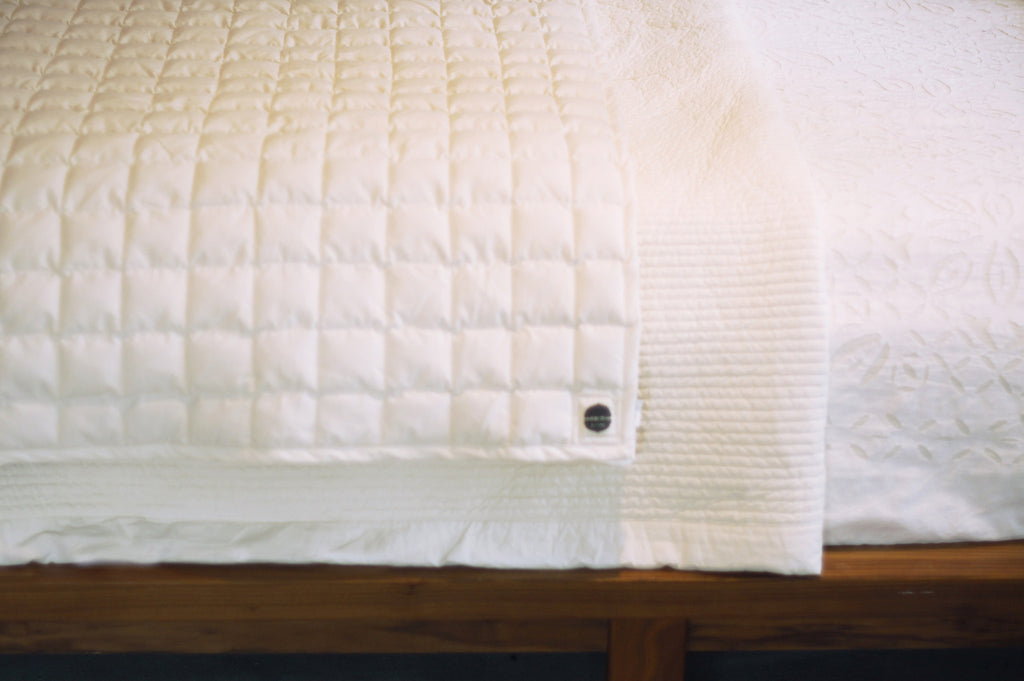 Organic Cloud Nine Yoga Blanket: Unbleached Natural In Stock!