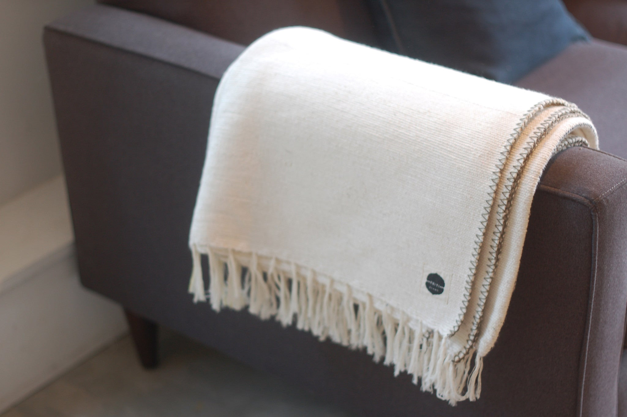 Art of Folding Handwoven 100% Cotton Yoga Blanket. Color: unbleached khadi