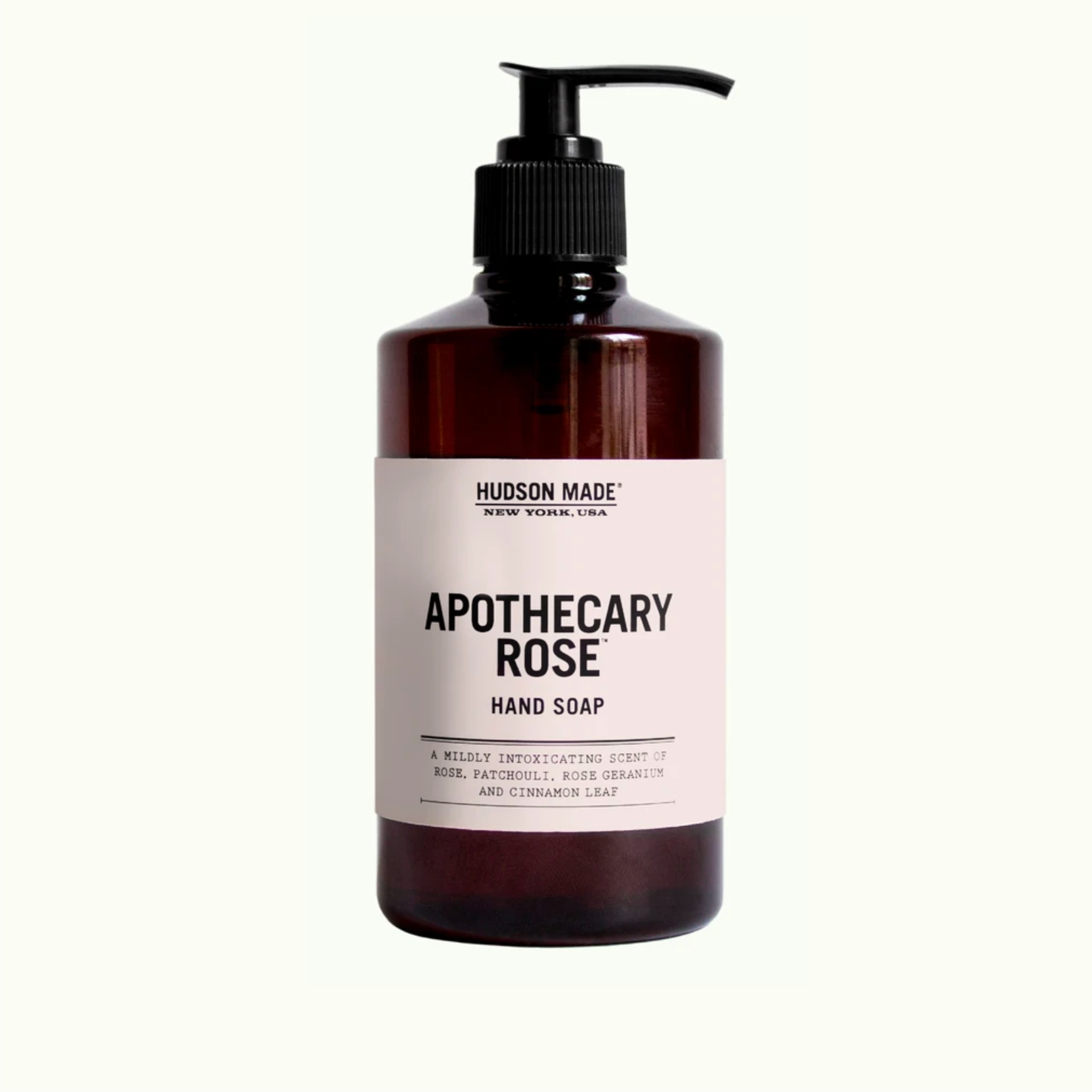 Apothecary rose liquid hand soap by hudson made