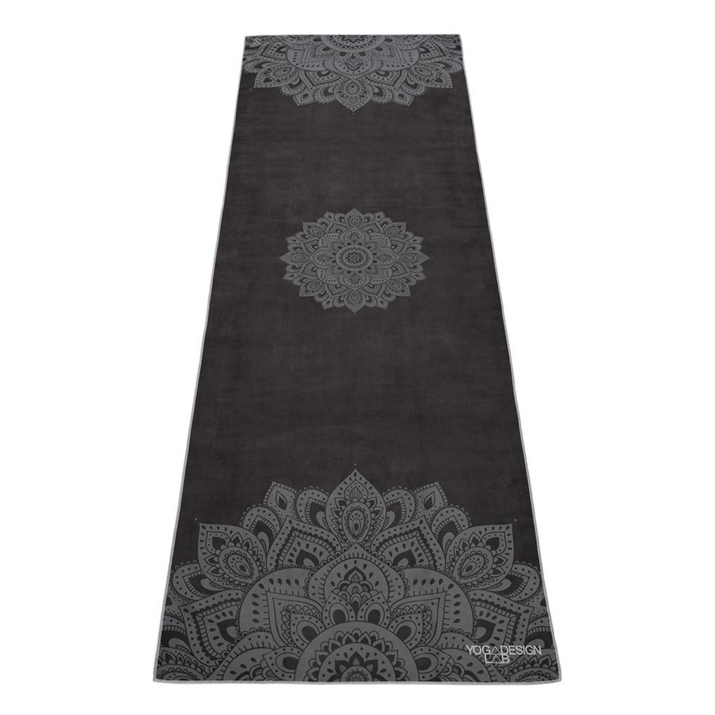 Eco-friendly premium charcoal mandala yoga towel