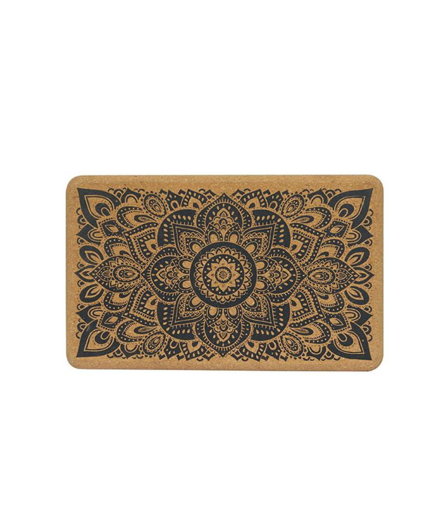 Cork mandala yoga block