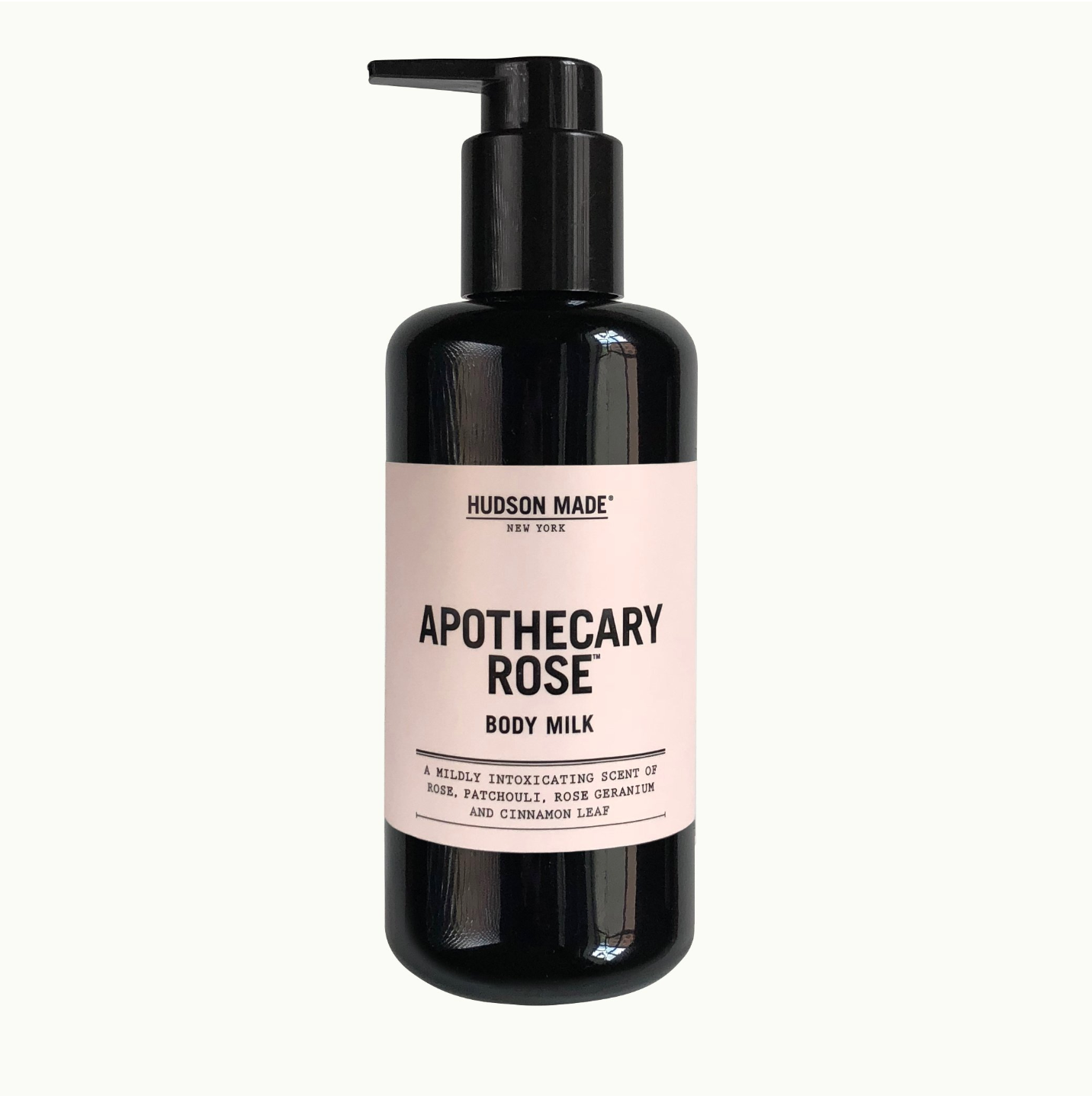 Apothecary rose body milk by hudson made