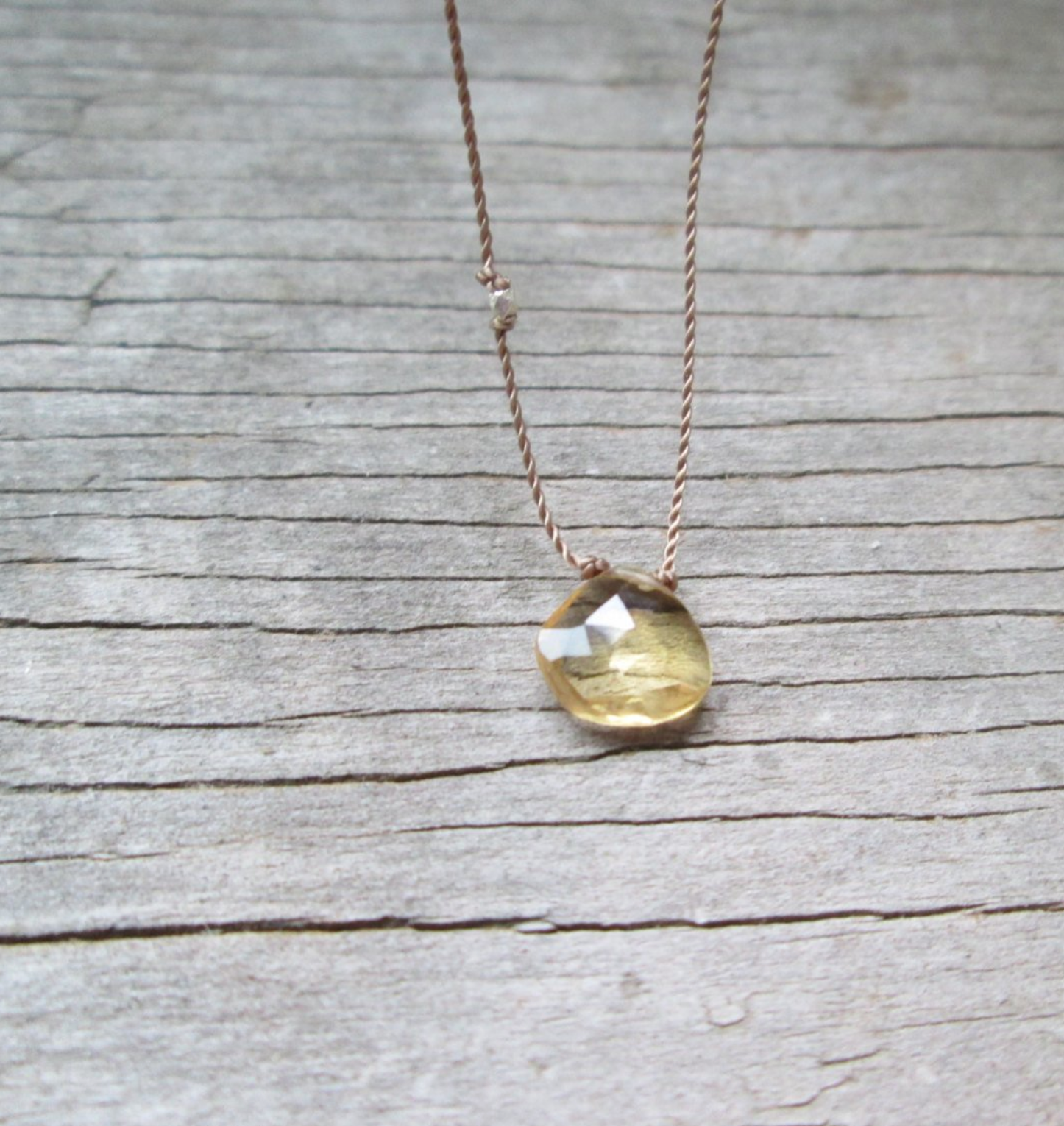 Citrine silk gemstone necklace