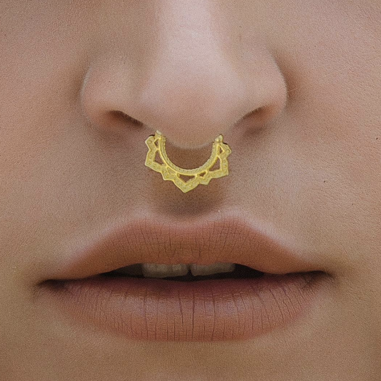 Gold Lotus Septum