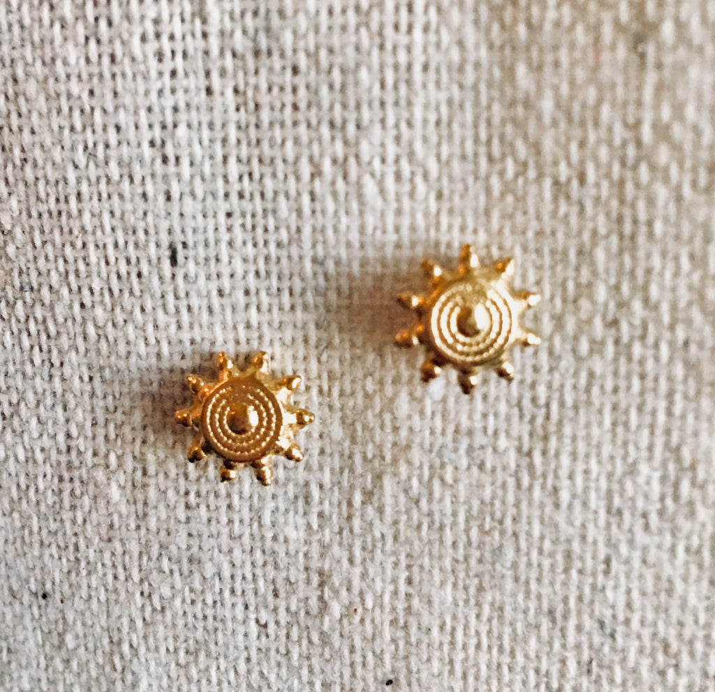 Mandala gold earrings