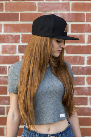 Simple Lion Snapback (Wool // Black)