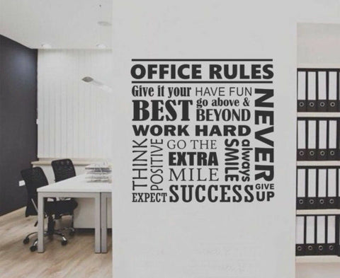 Office Rules Decal Sticker