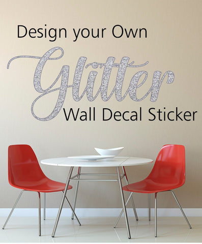 Glitter Decal Sticker
