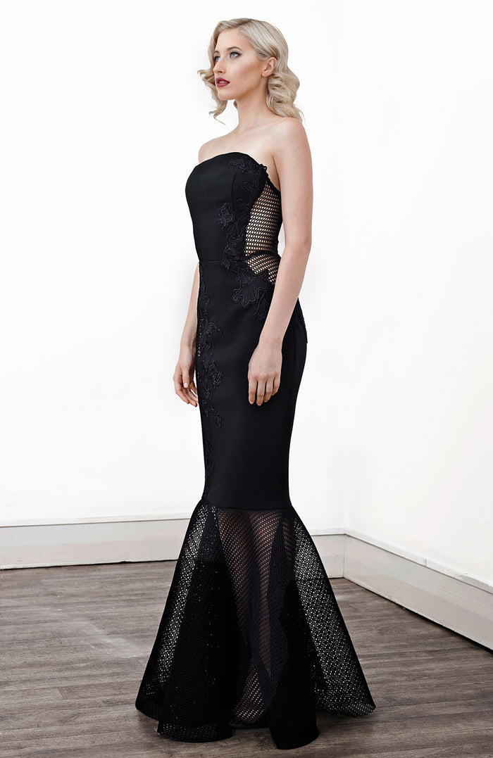 'Xanthite' Lace Applique Gown