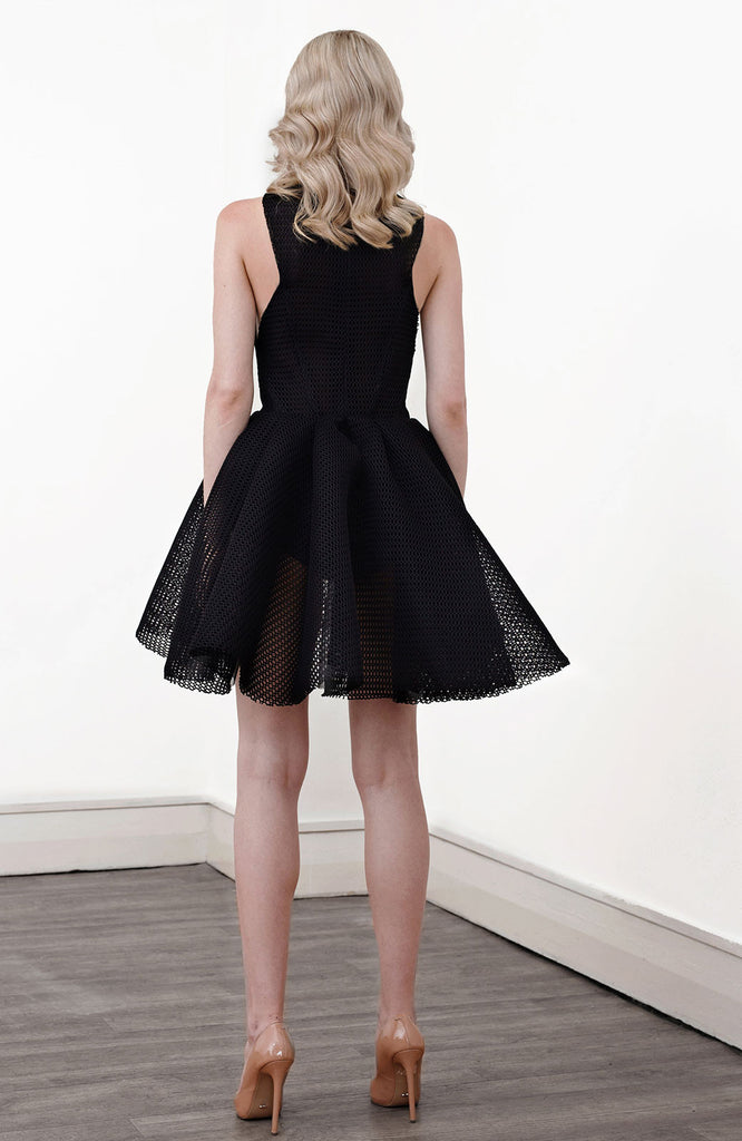 Jet  Full Cocktail Dress in Black