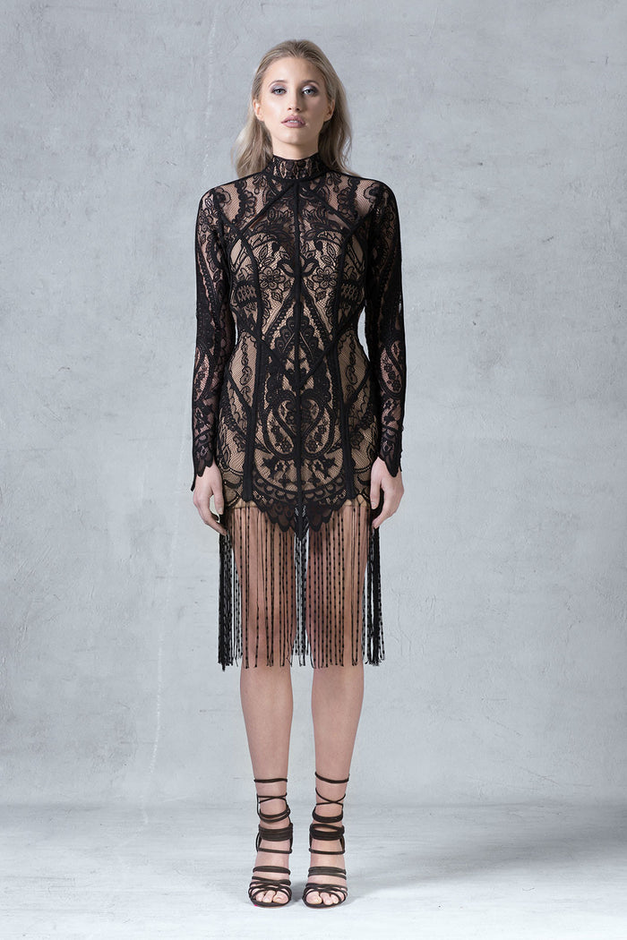 'Willow' Lace Dress - Black