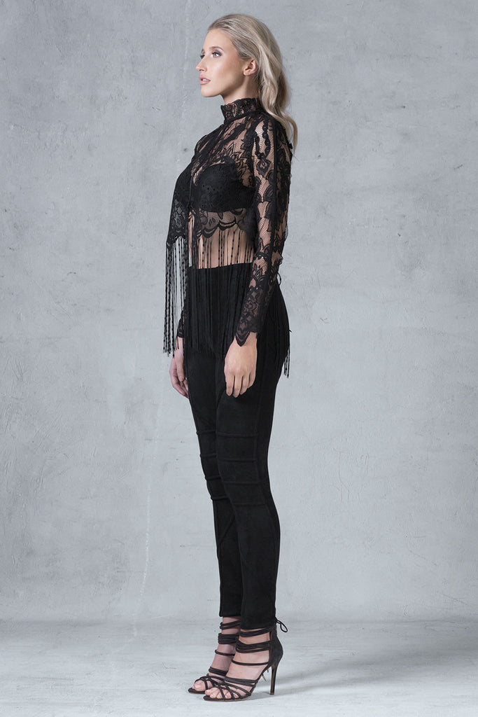 'Harper' Lace Top - Black