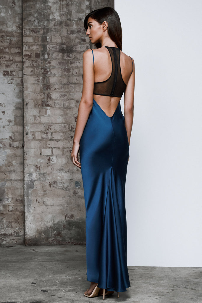 Zarni Dress - Cerulean Blue