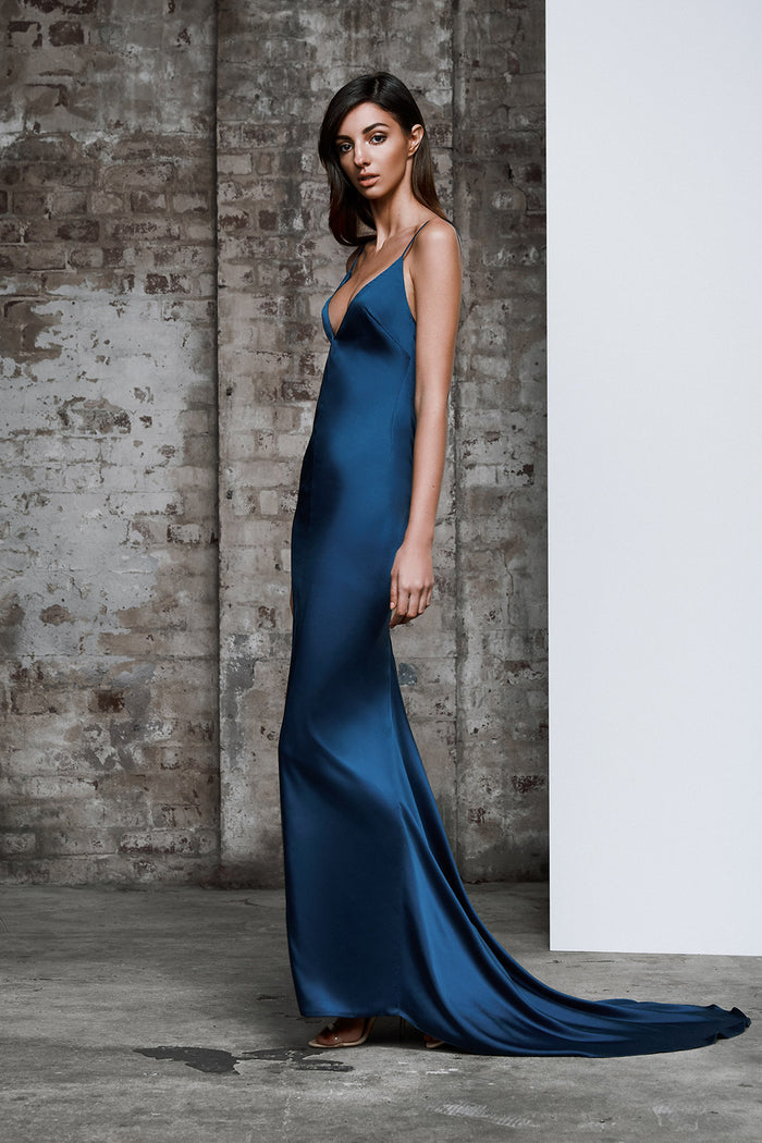 Aquarian Dress - Cerulean Blue