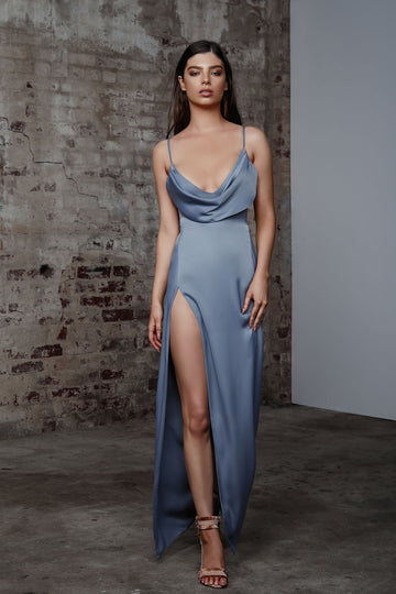 Mila Dress - Slate Blue