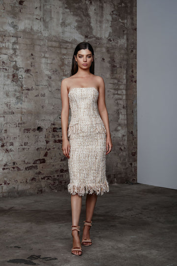 Noho Dress - Ivory/Gold