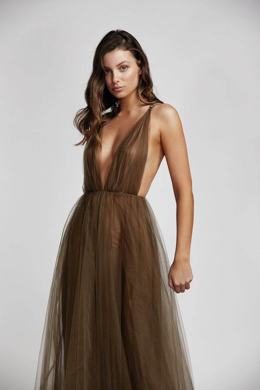 Violeta Dress - Olive Green