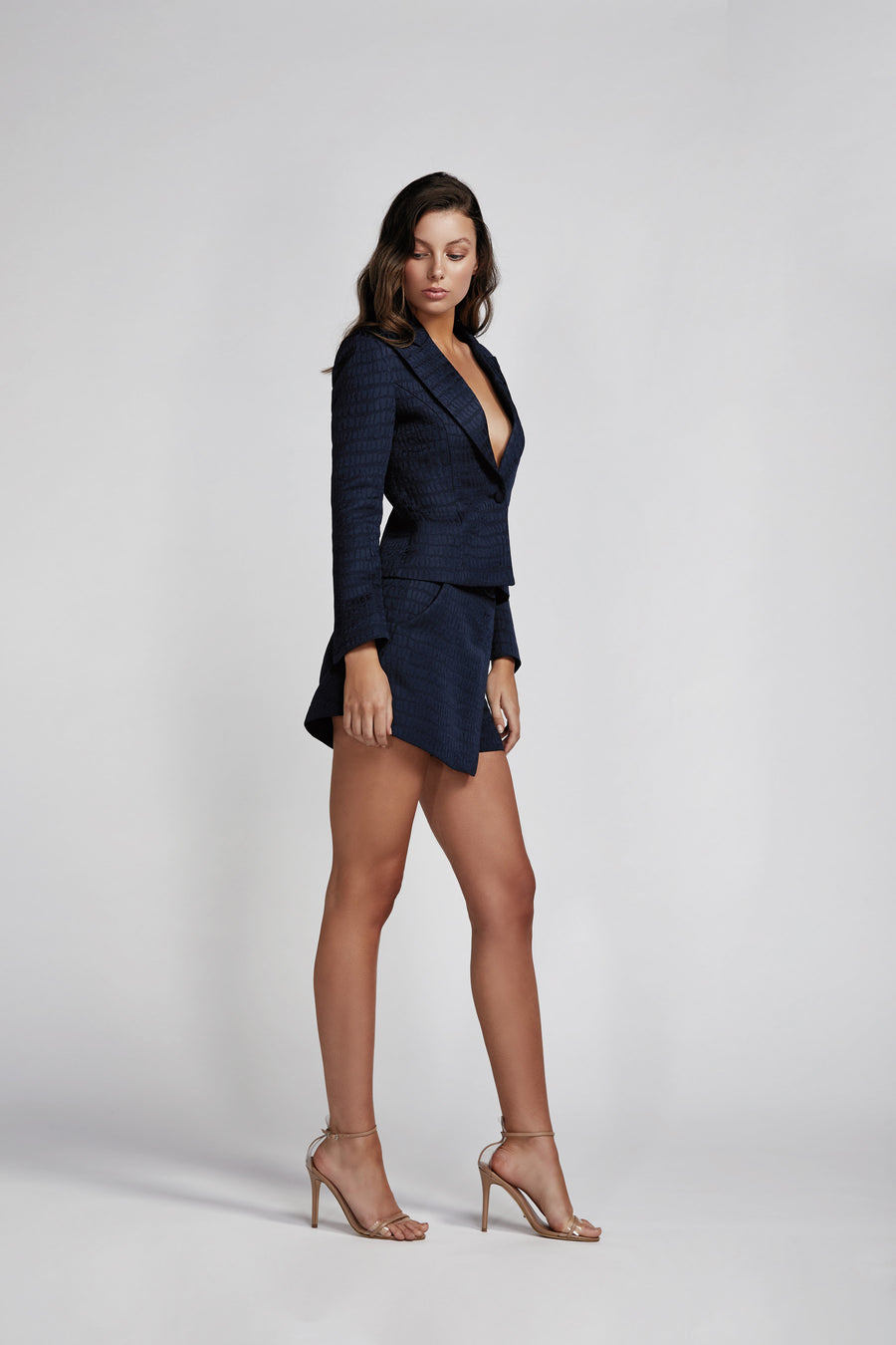Esmeralda Single Breasted Jacket - Navy