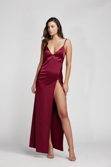 Akasa Dress - Wine Red