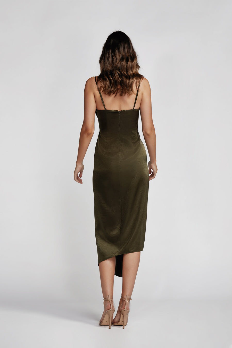 Carmen Dress - Olive Green