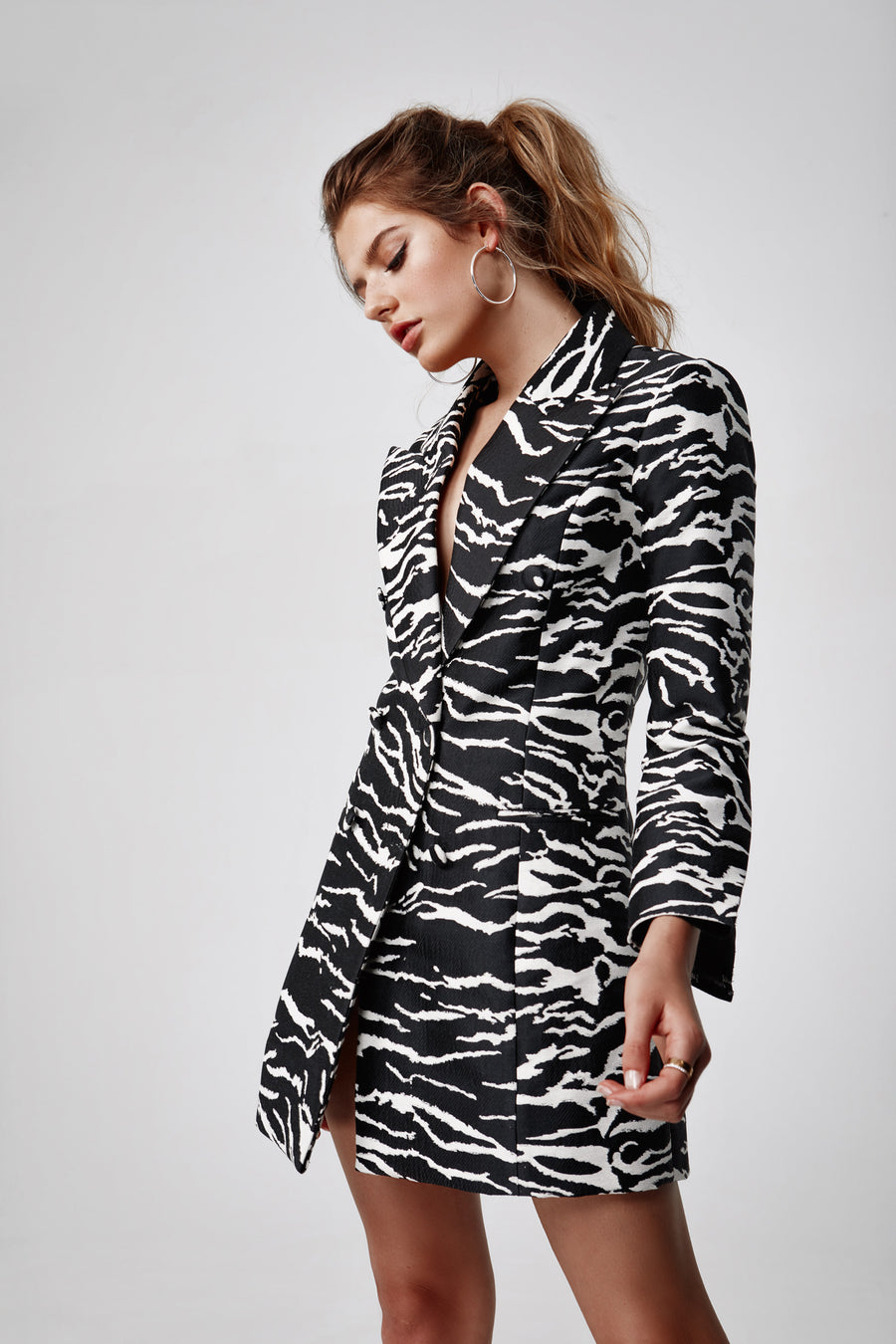 Zena Jacket Dress - Black