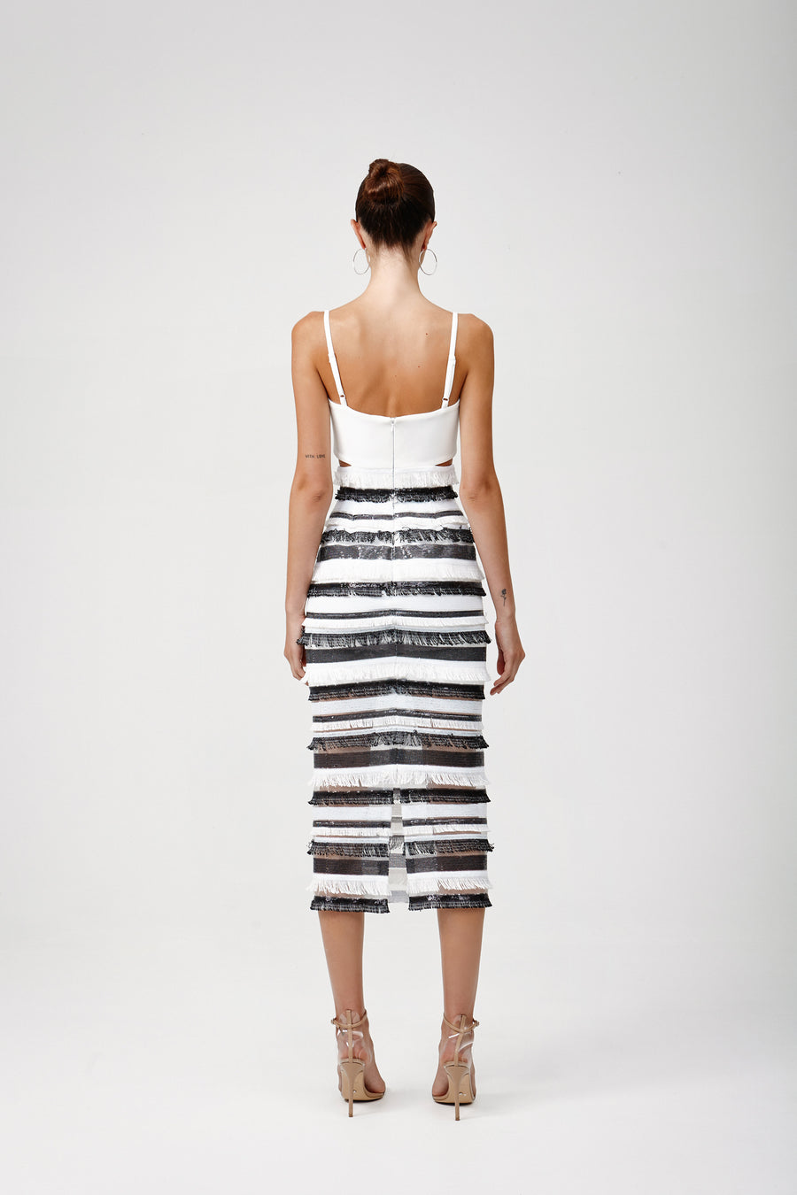 Rozela Dress - Black/White
