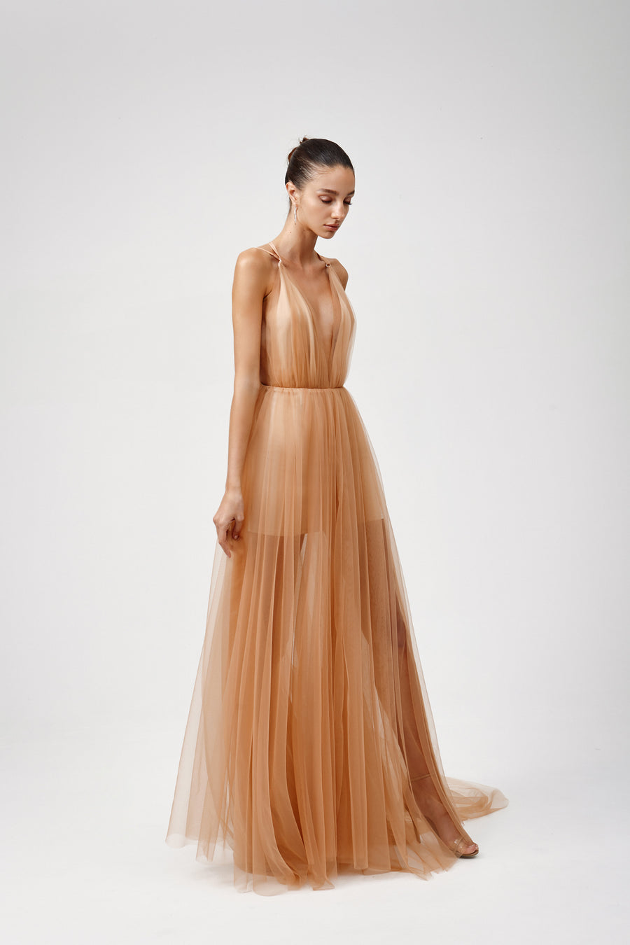 Amalie Dress - Apricot Cream