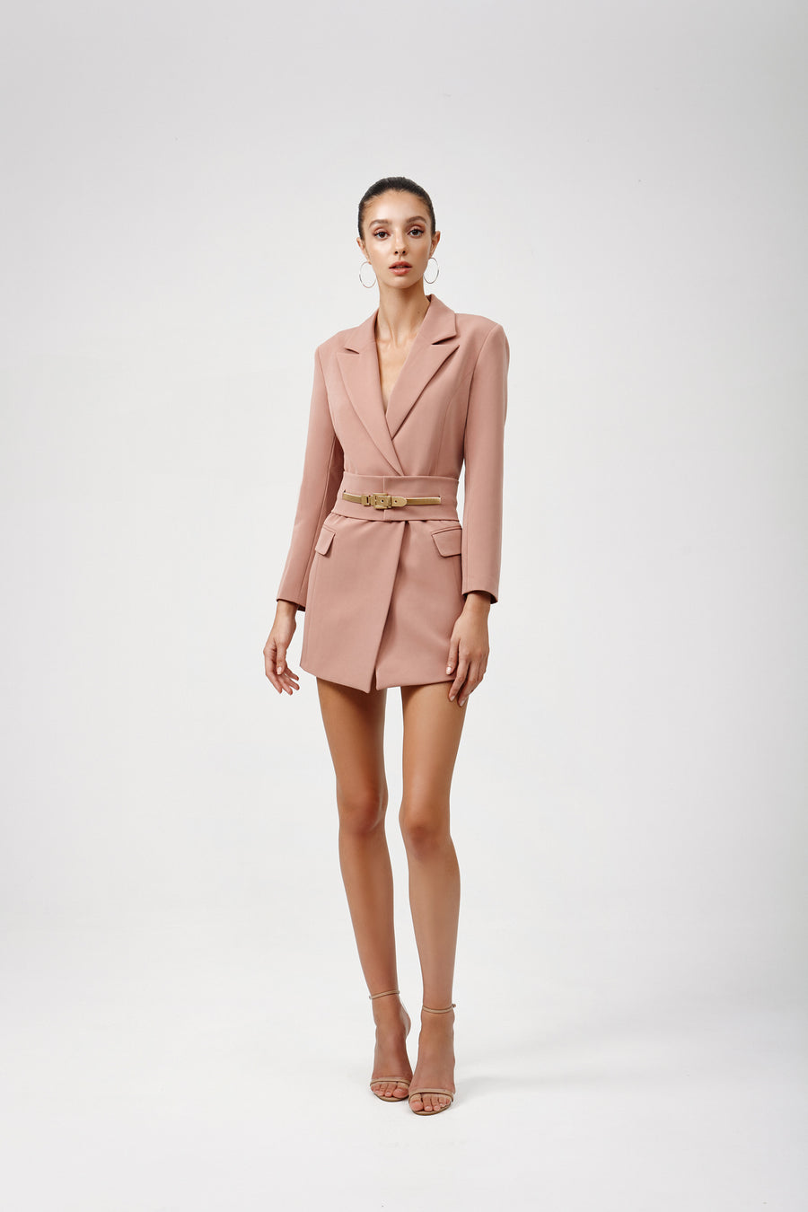 Sacha Jacket Dress - Dusty Pink